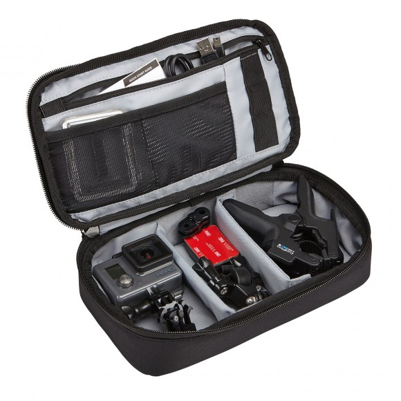 Lightweight yet durable protection for 2 action cameras and accessories.