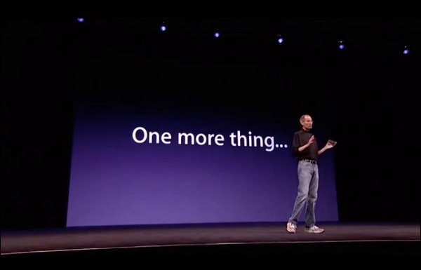 資料顯示 Steve Jobs 於 1999 至 2011 年期間曾用過「One more thing」31 次