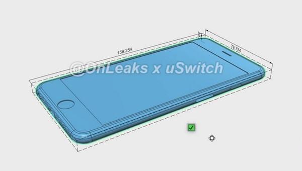 iPhone 6s Plus 厚度則增加至 7.3mm