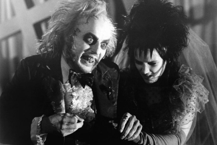 BEETLEJUICE, from left: Michael Keaton, Winona Ryder, 1988, © Warner Brothers/courtesy Everett Colle