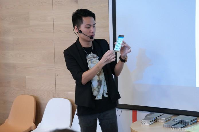 Samsung 代表介紹 Note 5 以及 S6 Edge+ 功能以及最新特點。