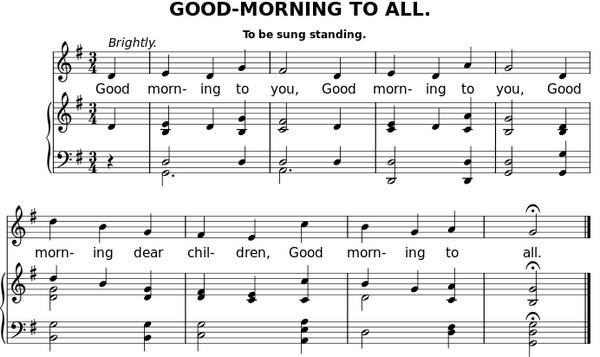 《生日快樂》的前身是一首名為《Good Morning to All》的歌曲