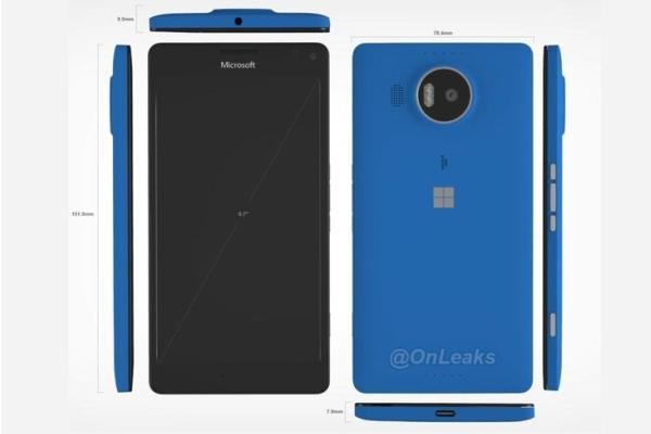 早前流出的 Lumia 950 XL CAD 渲染圖