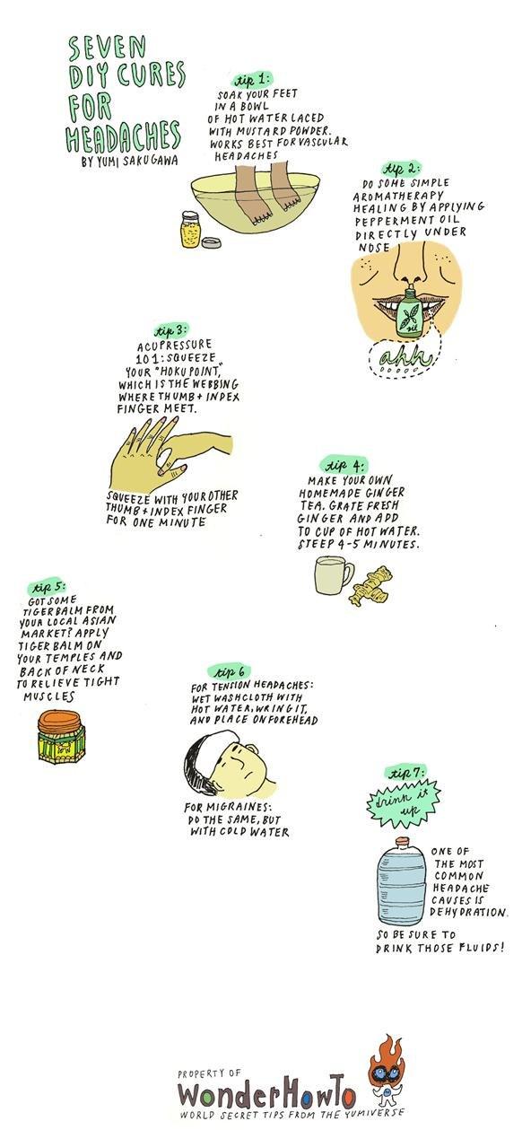 揉合中醫學,外媒報導 7 種免食藥治頭痛方法