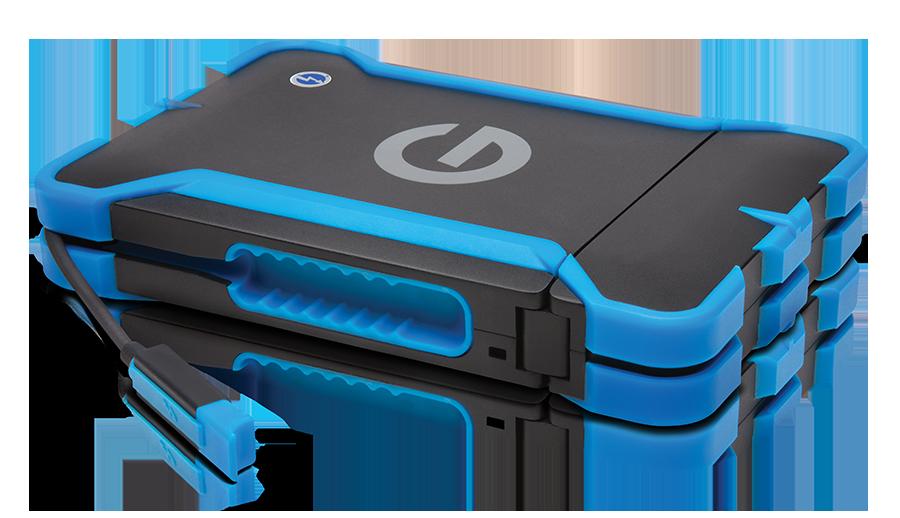 防塵防水抗衝擊 G-Drive ev ATC with Thunderbolt 高速 1TB 硬碟