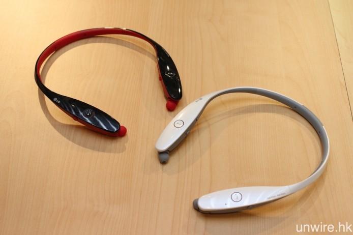 同場亦有展示已售賣當中,旗艦型號 Tone Infinim HBS-900,為 LG 與 harman/kardon 合作研發的產品,支援 aptX 解碼之餘,電池亦有著長達 14 小時音樂播放或 17 小時通話時間,並採用可伸縮式耳機線設計。