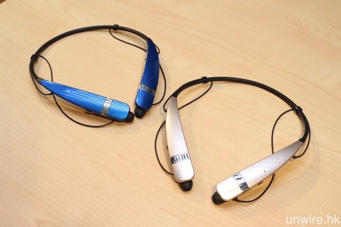 另一款產品 LG Tone Pro HBS-760,則不設伸縮式耳機線,但同樣支援 aptX 解碼,並與 HBS-500 一樣為藍牙 4.1 規格,音樂播放及通話時間分別為 10.5 小時及 16 小時。