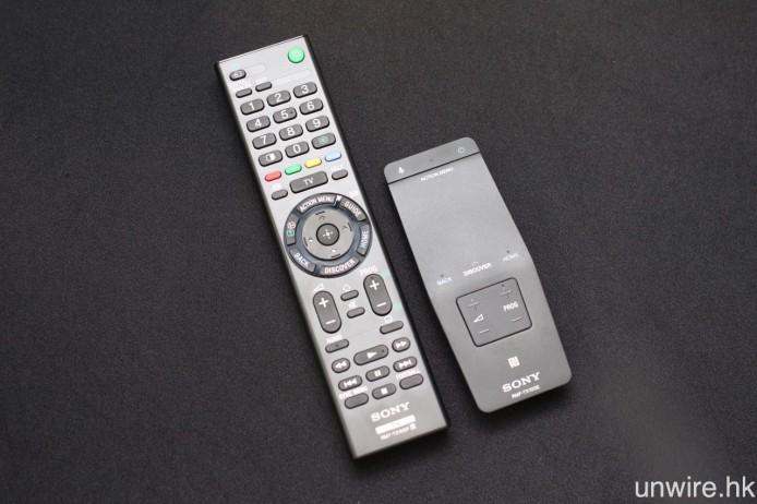 隨機附送按鍵式及輕觸式遙控各一個。