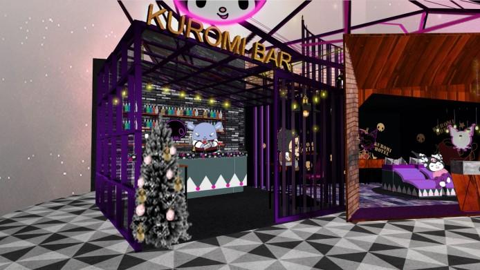 訪客可到Kuromi Bar享用聖誕特別版迎賓特飲