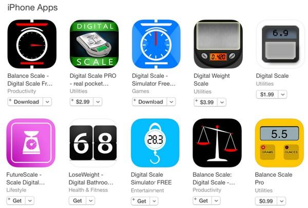 奇怪的是 App Store 上目前已有不少磅重 app