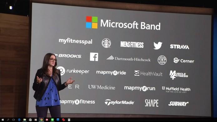 Microsoft Band 將會與圖中的開發商合作,推出兼容的應用 apps。