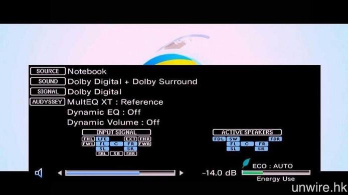 當播放 Dolby Digital Plus 7.1 編碼的電影,並選擇「杜比數碼環繞」環繞音效輸出,傳輸至擴音機的音效會降為 Dolby Digital 5.1。
