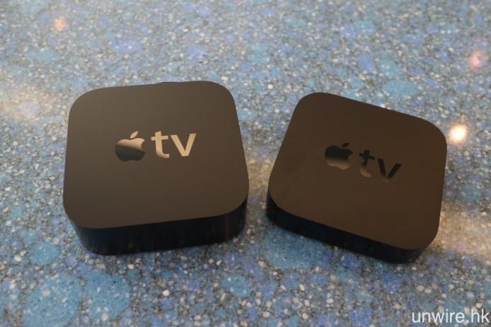 單計機身長度及闊度,第 4 代及第 3 代 Apple TV 並無分別。