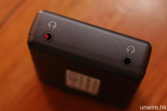 輸出則有一對 3.5mm 耳機輸出,輸出功率為 35mW @ 600ohms,廠方豪言可以驅動任何耳機!