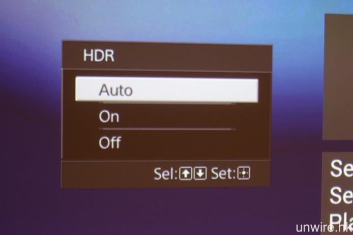 支援傳輸 HDR 訊號是 VPL-VW520ES 的重要賣點。