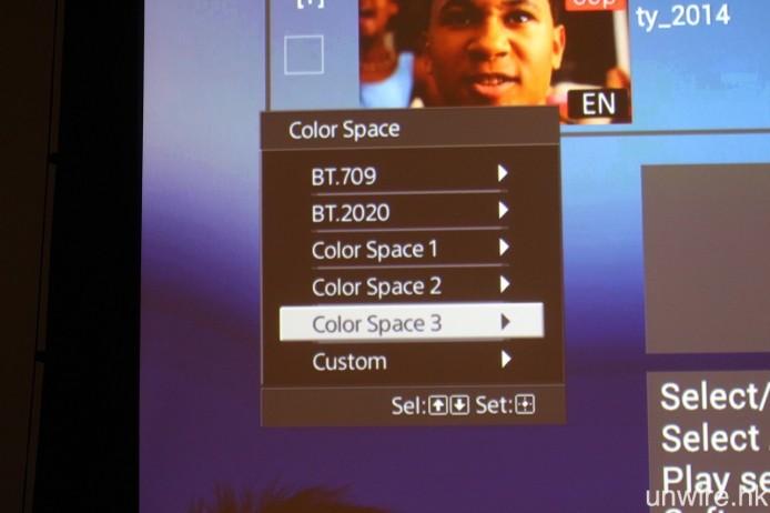還對應 Ultra HD Blu-ray 將會採用的 BT.2020 廣色域規格。