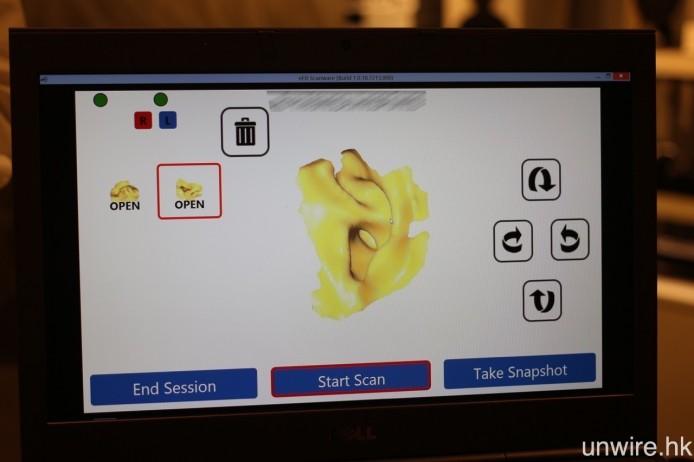 完成掃瞄之後,就會顯示圖中的「數碼版」耳印,並會即時上載至 UE 的數據庫之中,往後訂製各款 UE CM 耳機,亦可使用該數據去製作。