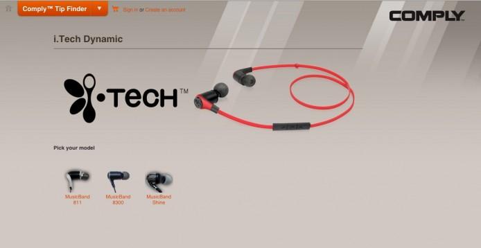 MusicBand SHINE 還對應著名的 Comply 耳棉。