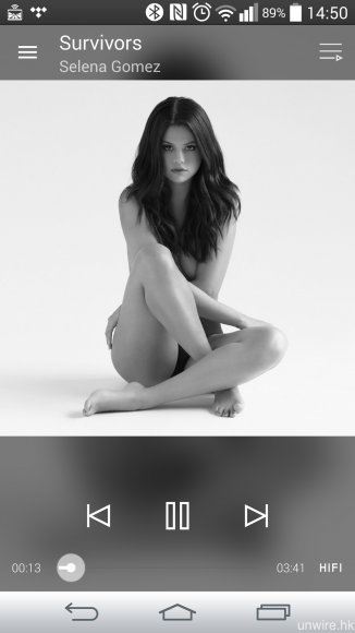 試聽歌曲:Selena Gomez《Survivors》16bit/44.1kHz FLAC。