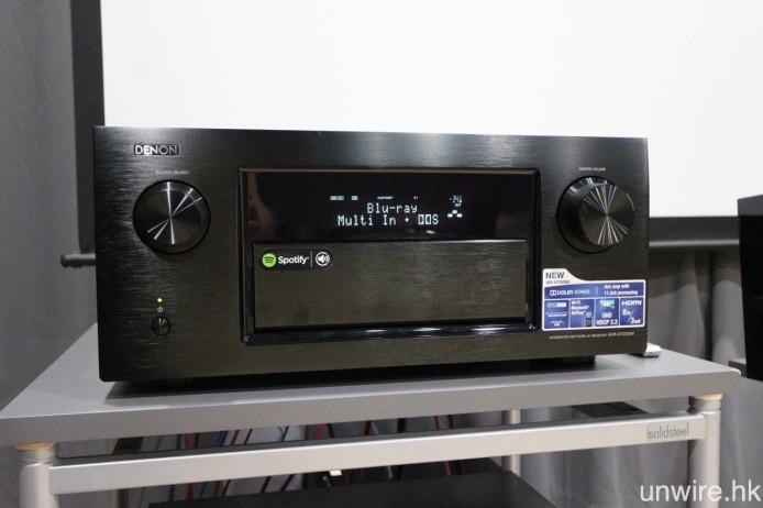 ▲ 是次測試的 Denon AVR-X7200W 擴音機,已安裝廠方的 DTS:X Beta 測試版本韌體。