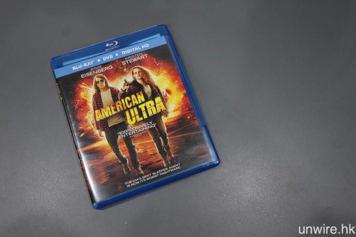 ▲ 剛抵港的《American Ultra》美版 BD,是另一套採用 DTS:X 編碼之電影。