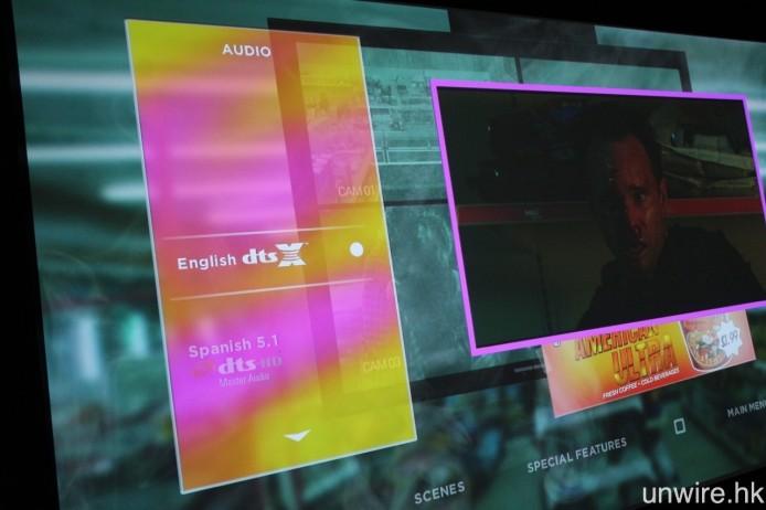 ▲ 選單內第一條聲軌就是 DTS:X,並且完全不設任何 Dolby 聲軌。