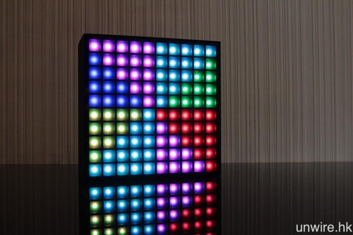 預設的 5 種燈效模式,包括跟隨音樂跳動的「Dancing Rhythm」,以及七色彩虹「Spinning Rainbow」。