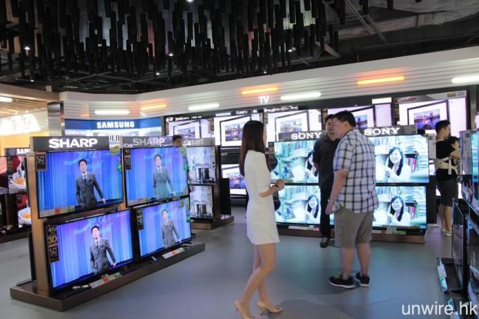 以往購買電視,大家都會前往電器商店選購。