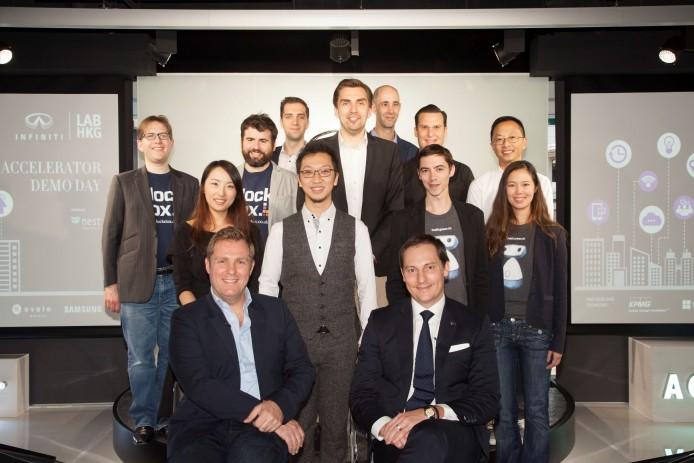 1. 英菲尼迪創業加速項目初創企業與Nest首席執行官Simon Squibb, 及英菲尼迪汽車公司亞洲和大洋洲區常務董事Dane Fisher
