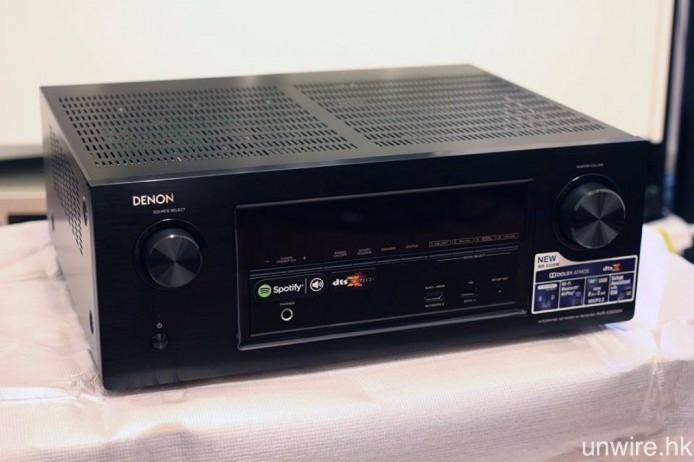 是次使用的示範器材為 Denon AVR-X3200W 家庭影院擴音機。