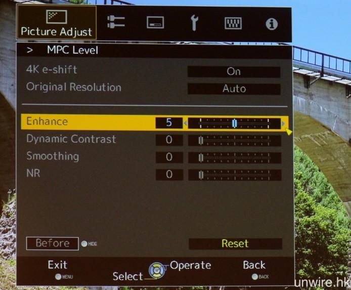 全新 MPC 影像處理技術(Multiple Pixel Control),能夠針對 UHD 4K 及 HD 影像訊源,全方位強化畫面表現。