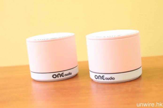 最先推出市場的 ONEmicro 立體聲喇叭,同樣以專用 USB 發射器將聲音訊號透過 DECT 無線傳輸至喇叭輸出,未來亦會以這款喇叭配合雙 6 吋有源超低音,