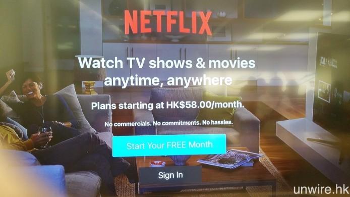 早前到 Apple Store 購買第 4 代 Apple TV 時,就給艾域發現 未正式登陸香港的 Netflix,最低月費為每月 $58,雖然未必是確實定價,但相信亦是不中亦不遠,不知這個價錢又會否吸引到各位 Wire 民串流睇電視呢?