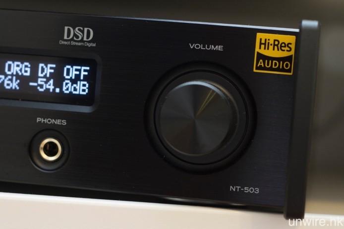 機身配備 TEAC-QVCS 全平衡電子音量調控,而 6.3mm 耳筒輸出端子亦會受助於 TEAC-HCLD 線路,令它足以驅動高達 600ohms 的高阻抗耳筒。