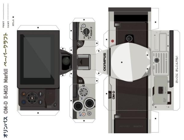快搶!Olympus 免費公開 E-M10 MarkII 及 E-PL7 紙模型圖檔