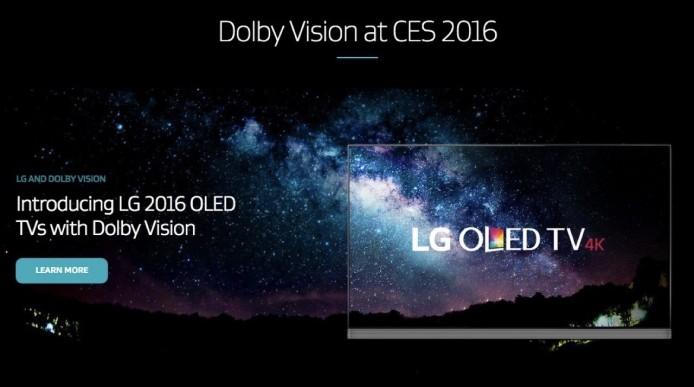 HDR 方面,LG 今年多款 OLED 4K 及 Ultra HD 4K 電視,都將會支援 Dolby Vision 這種 HDR 技術。