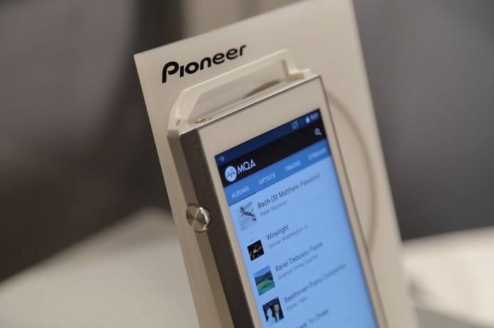 現場展示的 Pioneer XDP-100R,已支援 MQA 串流播放。