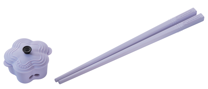 5.粉紫花形鍋筷子