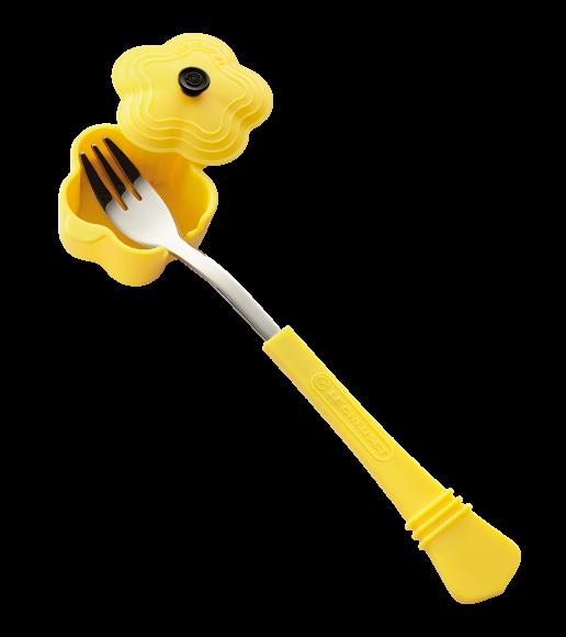 6. 黃色花形鍋餐叉 B
