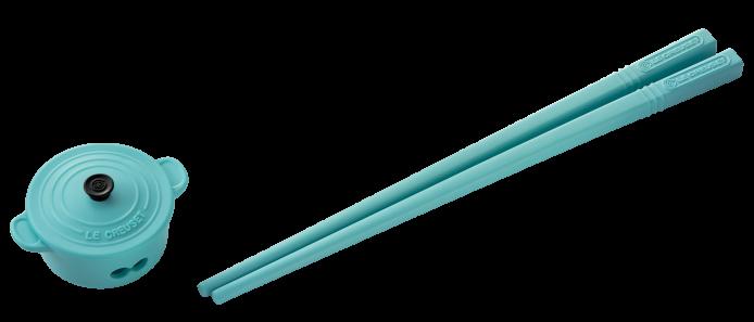 9.海藍圓形鍋筷子