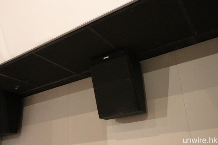3 個影廳均是採用 Barco 投影系統及 QSC 喇叭。