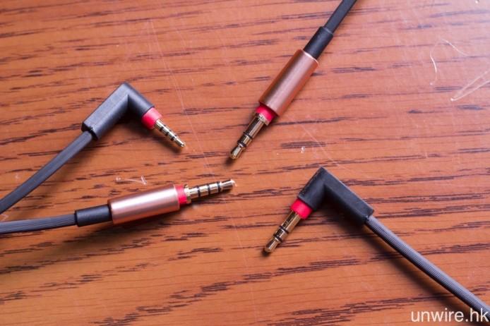 隨機附送 3.5mm 非平衡及 2.5mm 4 節式平衡耳機線各一條。