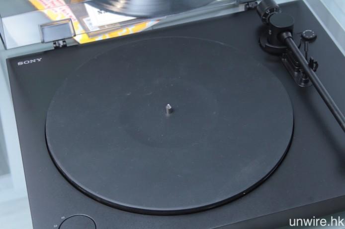 轉盤上配備 5mm 超薄橡膠墊。