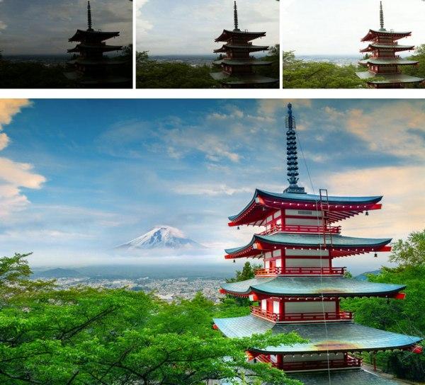 以 Photoshop 的 Merge To HDR 結合,再以 Nik Color Efex Pro 調色