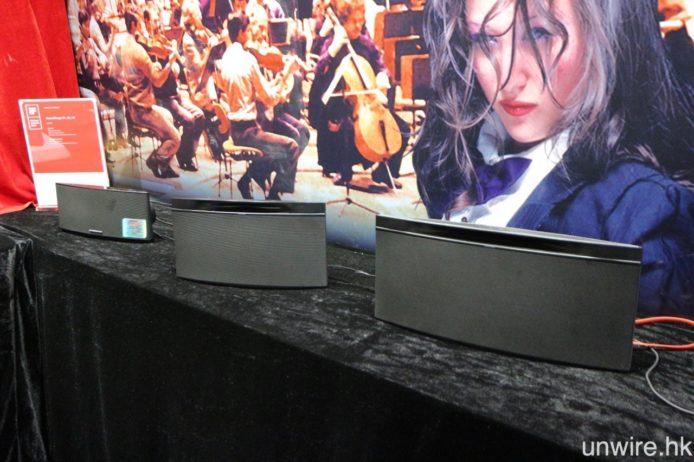 至於去年推出的 SoundStage Multiroom 串流喇叭,在會場亦劃出一間獨立房間作示範。