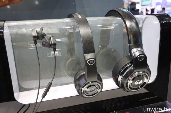 至於 Elements 系列則主攻男性市場,提供金、玫瑰金、銀、黑及石板黑 5 種顏色選擇,型號則包括罩耳式、貼耳式耳筒、入耳式耳機及背浮式便攜喇叭,均支援藍牙無線連接,而耳機型號則對應 aptX 解碼。