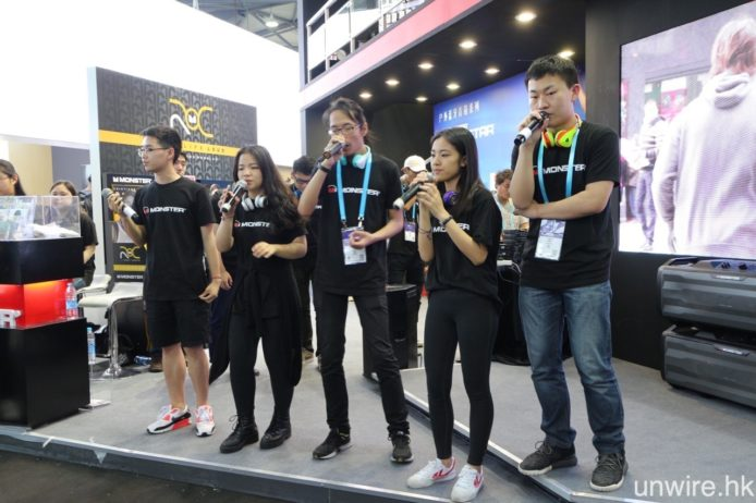 與美國 CES 一樣,Monster 在今屆 CES Asia 也有安排不同的音樂表演,猶如將在美國的展區搬到上海。