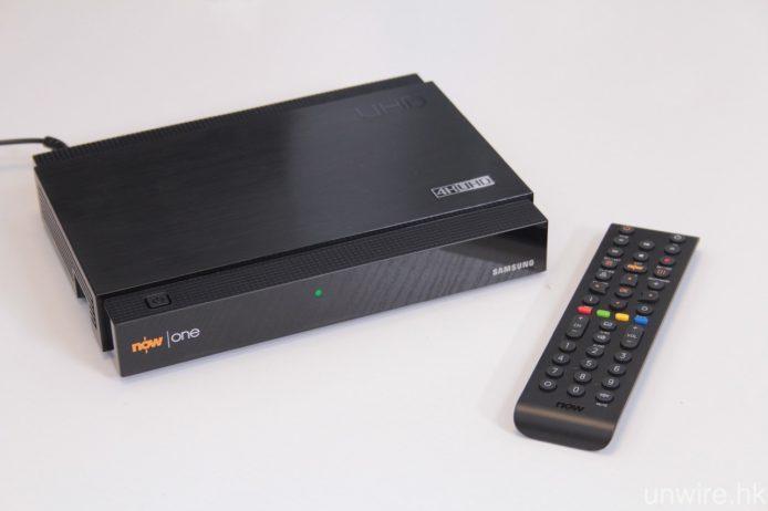 要透過 NowTV 觀看 4K 節目,必須使用該平台與 Samsung 合作推出之 Now One 機頂盒。