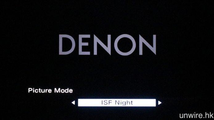 由於取獲 ISFccc 認證,因此此機亦將會預設 ISF Day 及 ISF Night 影像模式。
