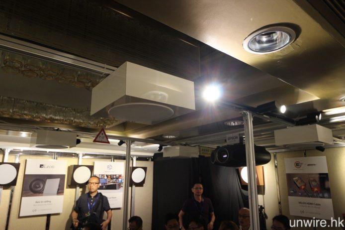 後置、後中置及天花喇叭均為 AV Consultant 自行加裝音箱的 Leon Speaker Axis 天花喇叭。